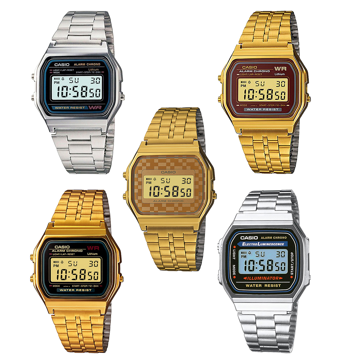 casio uhr f 105w 1a retro digital armbanduhr herren damen. Black Bedroom Furniture Sets. Home Design Ideas
