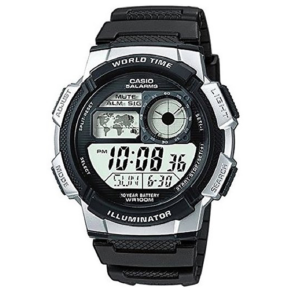 casio digitaluhr ae 1000w 1a2 armbanduhr herren schwarz. Black Bedroom Furniture Sets. Home Design Ideas