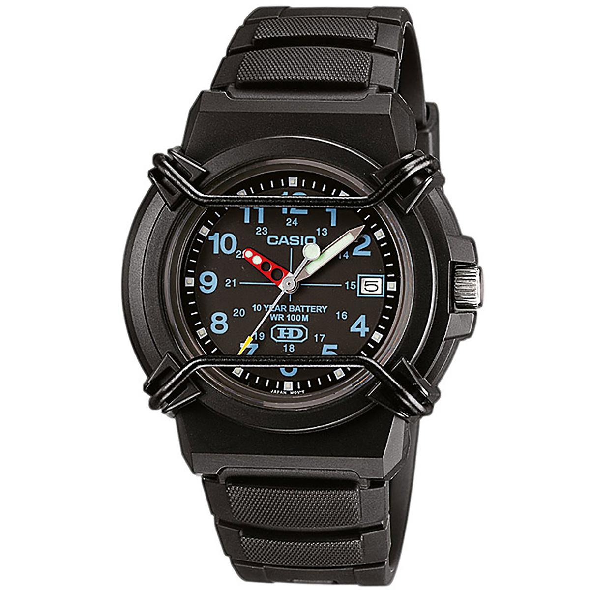 casio uhr hda600b1b armbanduhr herren damen schwarz