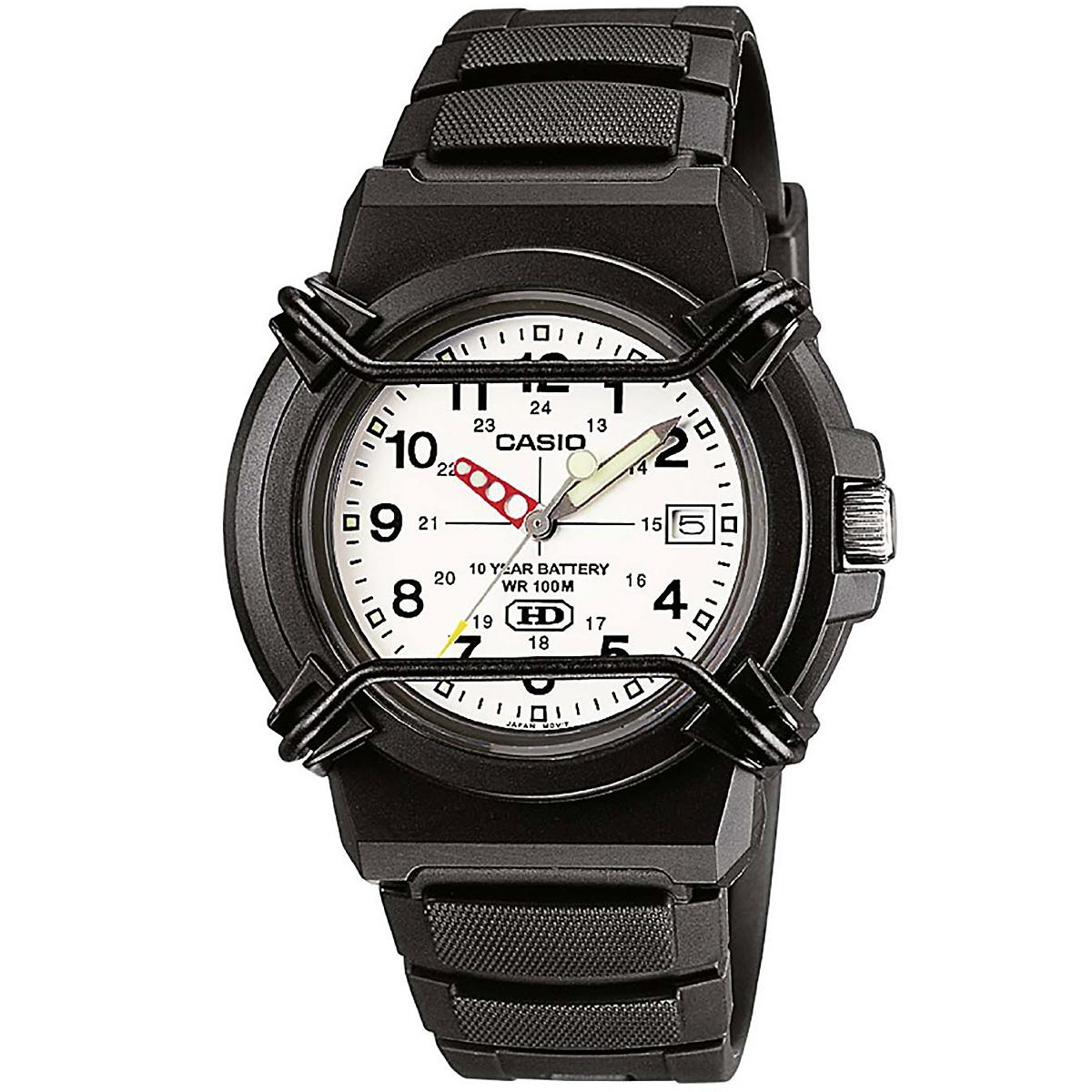 casio uhr hda600b7b armbanduhr herren damen schwarz wei223