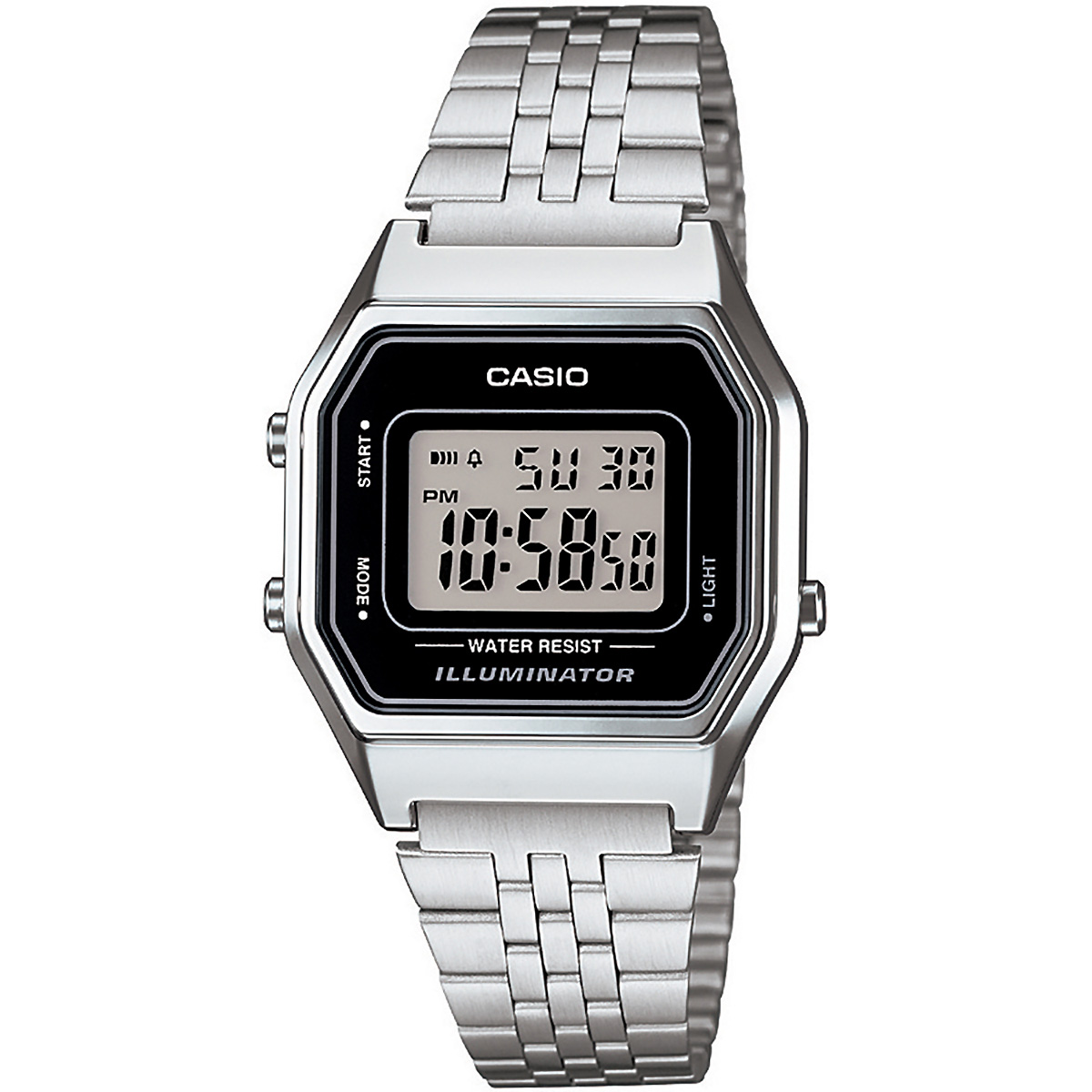 casio uhr la680wa 1df digitaluhr armbanduhr damen silber. Black Bedroom Furniture Sets. Home Design Ideas