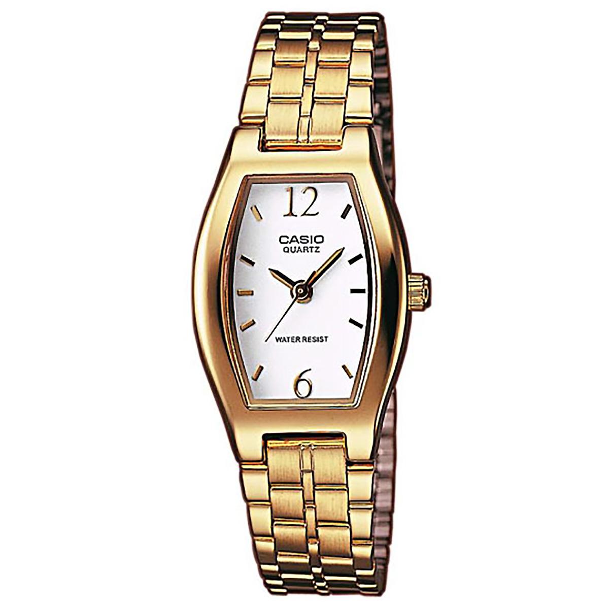 casio damenuhr ltp 1281pg 7aef armbanduhr edelstahl wei gold watch neu ovp ebay. Black Bedroom Furniture Sets. Home Design Ideas