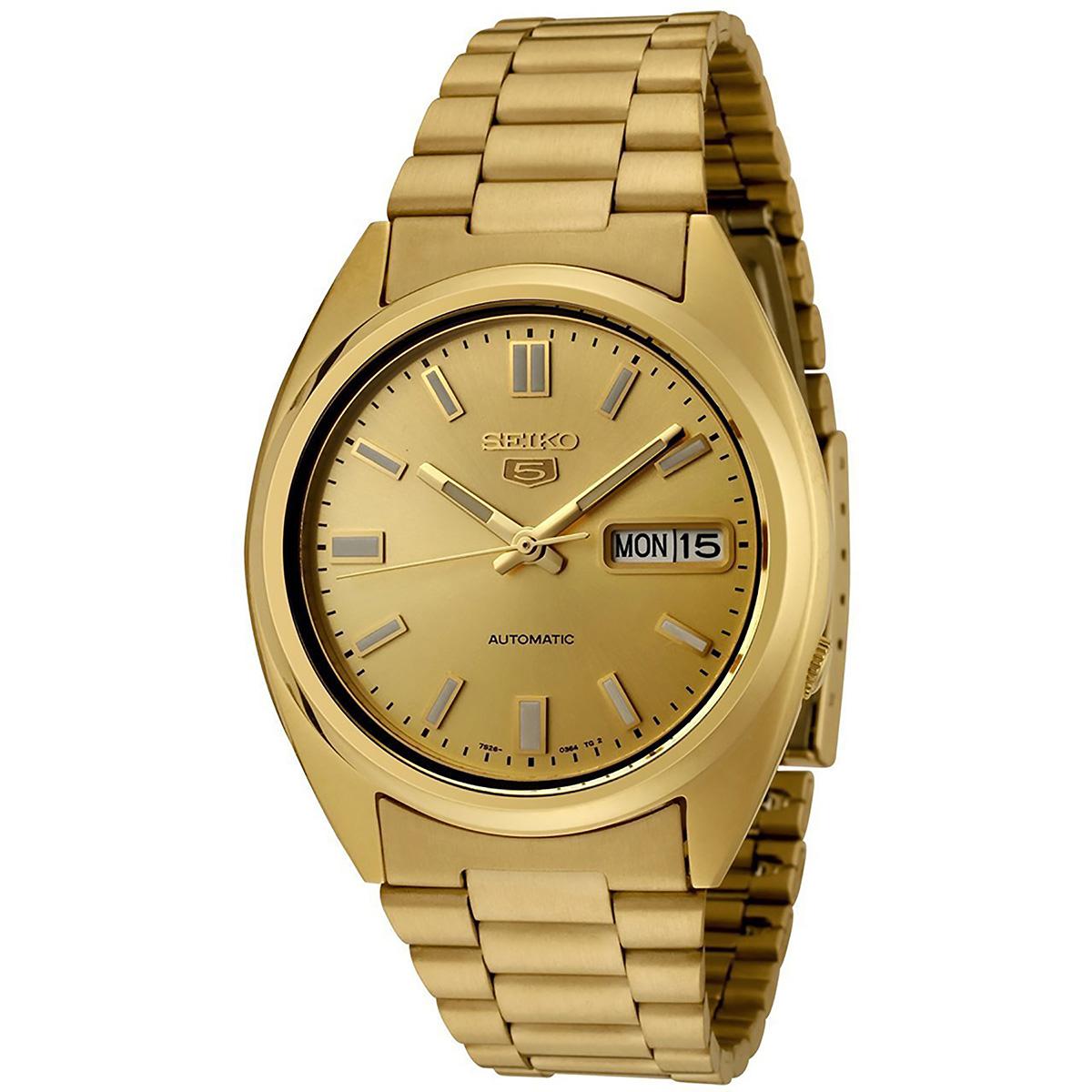 seiko 5 gent uhr snxs80k automatikuhr gold golden herrenuhr watch neu ovp ebay. Black Bedroom Furniture Sets. Home Design Ideas